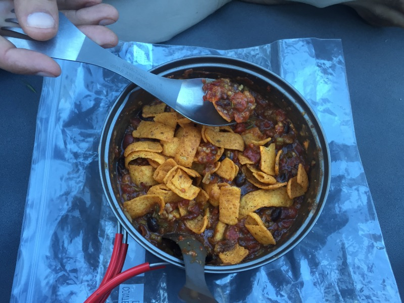 Chili with chili cheese Fritos!