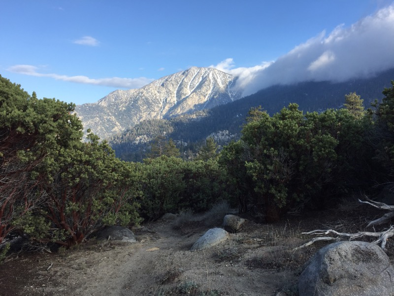 Mount San Jacinto - view from our campsite.