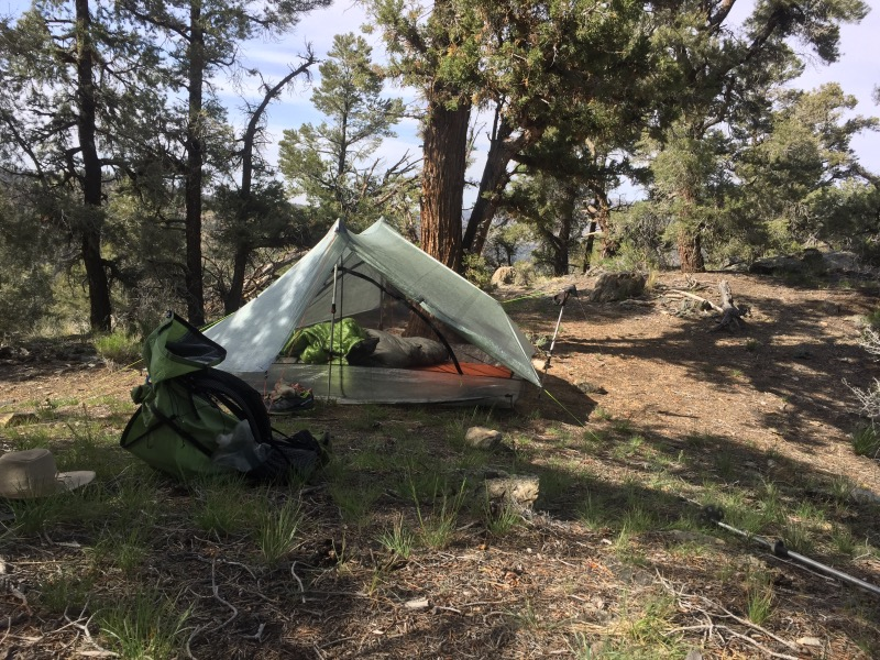 Short hike; camping 6 miles past Onyx Summit