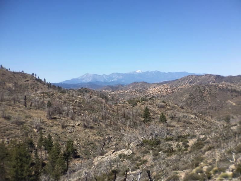 Looking ahead towards Mount Baldy.