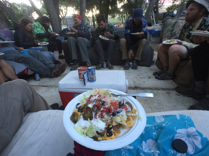 Taco Salad! Hikers: Rosebud, One Gear, Ninja Tortoise, Sam, Cheese and Trainwreck