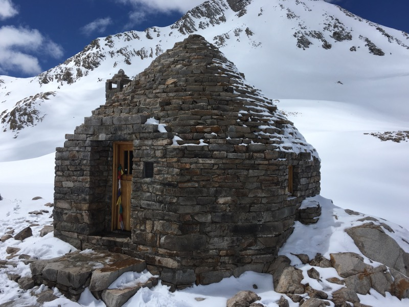 The Muir Hut at the top of Muir Pass.