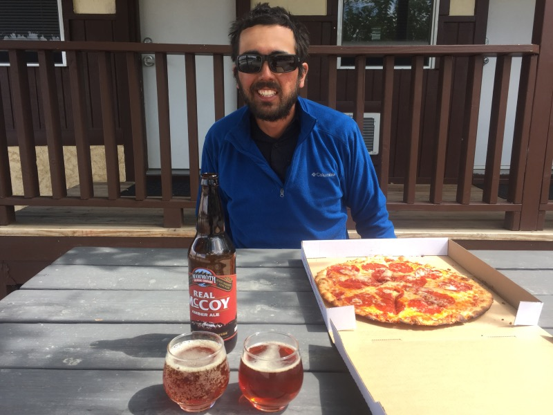 Yay pizza and beer!