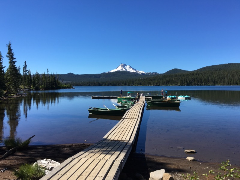 The dock at Olallie Lake.