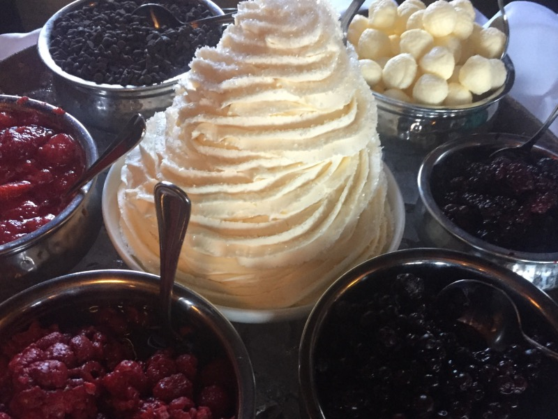 A tower of whipped cream!
