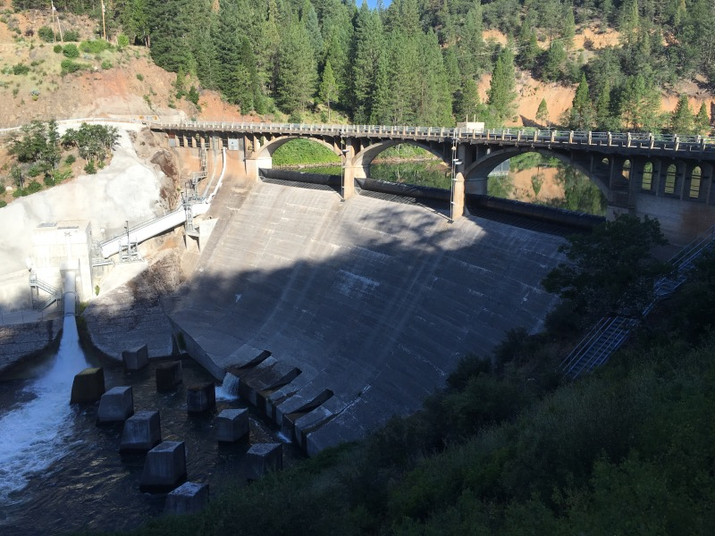 Shortly after leaving Burney Falls SP we crossed Pit 3 dam at Lake Britton.