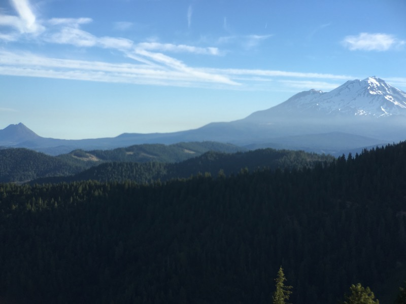 Mount Shasta - great view before descending down to I-5.