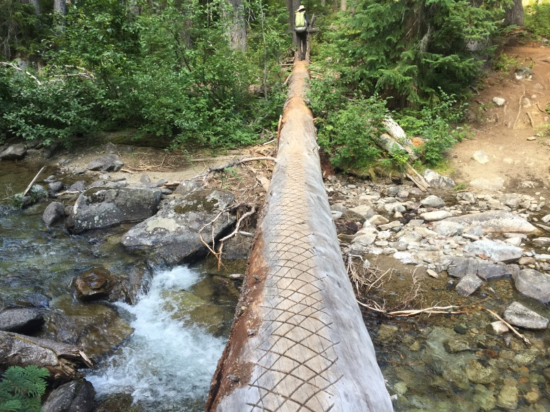 This is the replacement bridge at Bridge Creek.