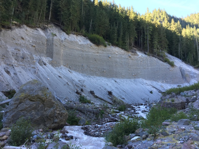 Massive slope failure at Kennedy Creek.