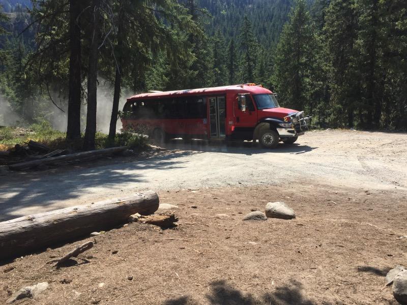 Shuttle bus to Stehekin.