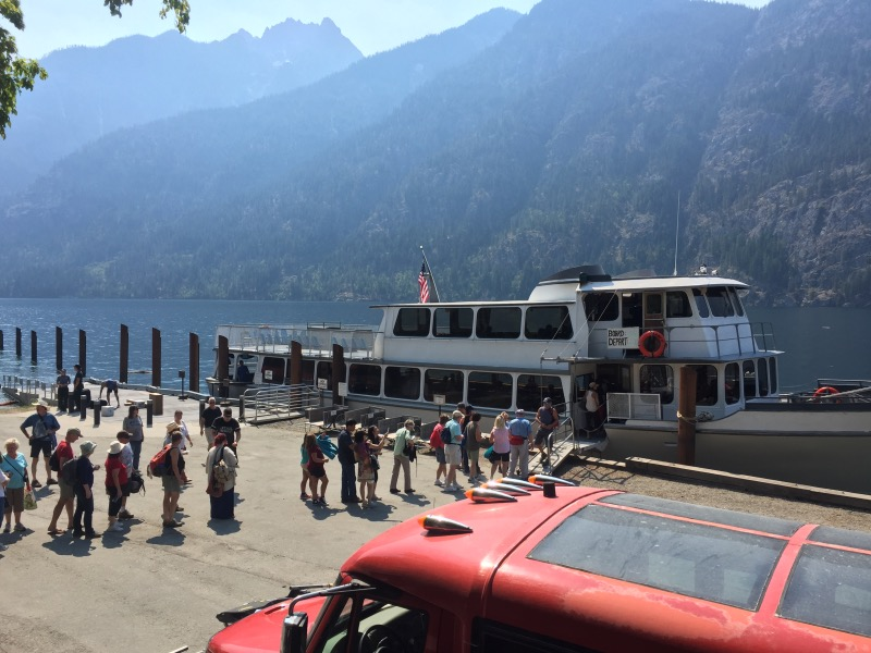 Weekend tourists heading back to Chelan on Lady of the Lake.